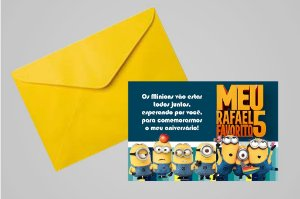 Convite 10x15 Minions 012