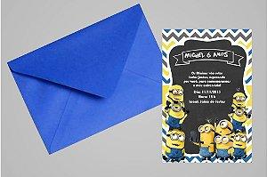 Convite 10x15 Minions 013