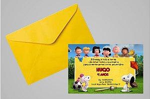 Convite 10x15 Snoopy e Charlie Brown 001