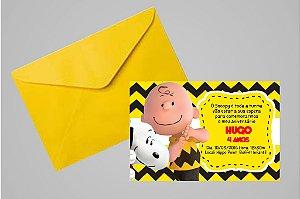 Convite 10x15 Snoopy e Charlie Brown 005