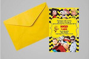 Convite 10x15 Snoopy e Charlie Brown 009 com foto