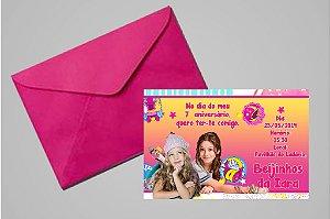 Convite 10x15 Soy Luna 001 com foto