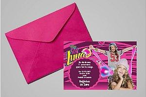 Convite 10x15 Soy Luna 004 com foto