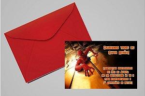 Convite 10x15 Homem Aranha 002