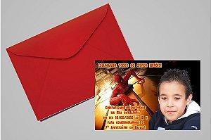 Convite 10x15 Homem Aranha 002 com foto