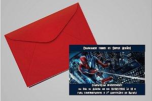 Convite 10x15 Homem Aranha 004