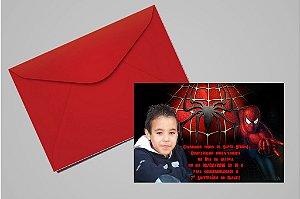 Convite 10x15 Homem Aranha 007 com foto