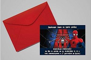 Convite 10x15 Homem Aranha 009