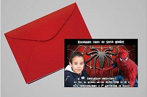 Convite 10x15 Homem Aranha 010 com foto