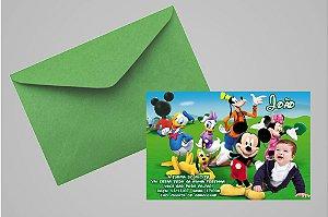 Convite 10x15 Turma do Mickey 004 com foto