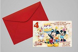 Convite 10x15 Turma do Mickey 005