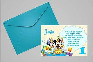 Convite 10x15 Turma do Mickey 006