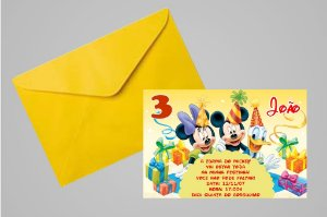 Convite 10x15 Turma do Mickey 007