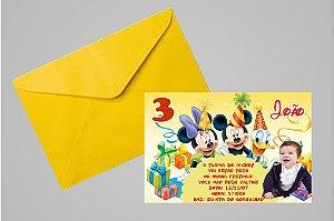 Convite 10x15 Turma do Mickey 007 com foto