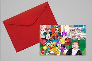 Convite 10x15 Turma do Mickey 008 com foto