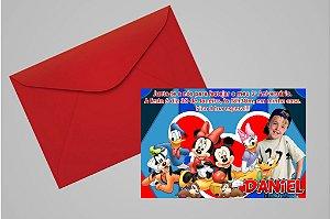 Convite 10x15 Turma do Mickey 009 com foto