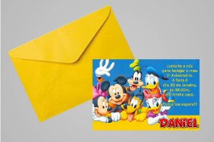 Convite 10x15 Turma do Mickey 010