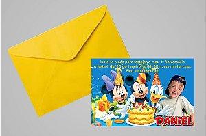 Convite 10x15 Turma do Mickey 011 com foto