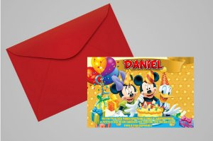 Convite 10x15 Turma do Mickey 012