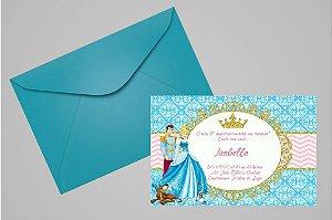 Convite 10x15 Cinderela 002