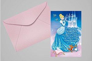 Convite 10x15 Cinderela 003