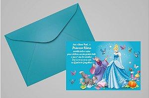 Convite 10x15 Cinderela 005