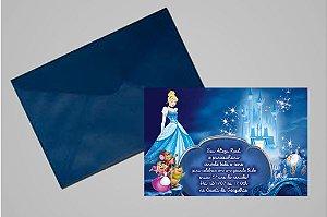 Convite 10x15 Cinderela 012