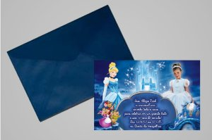 Convite 10x15 Cinderela 012 com foto
