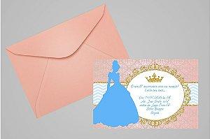 Convite 10x15 Cinderela 010