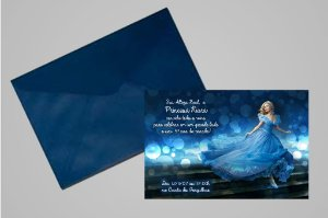 Convite 10x15 Cinderela 025