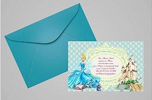 Convite 10x15 Cinderela 026