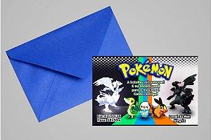 Convite 10x15 Pokemón 001