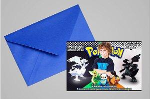 Convite 10x15 Pokemón 001 com foto