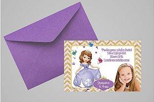 Convite 10x15 Princesa Sofia 001 com foto