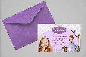 Convite 10x15 Princesa Sofia 007 com foto