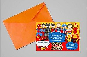 Convite 10x15 Super Herois 004