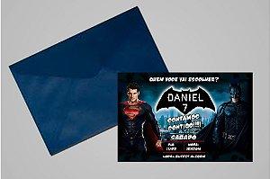 Convite 10x15 Batman Vs Superman 001