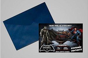 Convite 10x15 Batman Vs Superman 003
