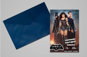 Convite 10x15 Batman Vs Superman 004
