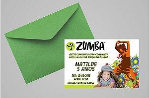 Convite 10x15 Zumba 001com foto