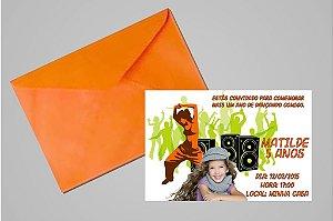Convite 10x15 Zumba 004 com foto