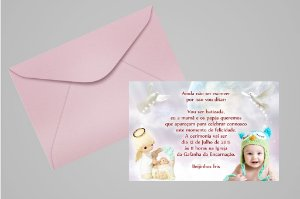 Convite 10x15 Batizado 014 com foto