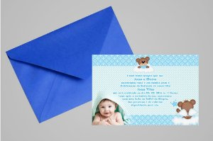 Convite 10x15 Batizado 016 com foto