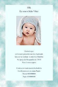 Convite 10x15 Batizado 022 com foto