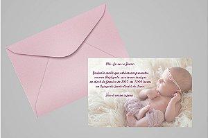Convite 10x15 Batizado 028 com foto