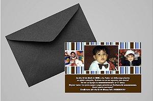 Convite 10x15 Batizado 070 com foto