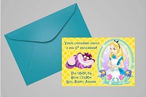 Convite 10x15 Alice no país das maravilhas 001
