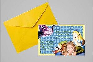 Convite 10x15 Alice no país das maravilhas 003 com foto