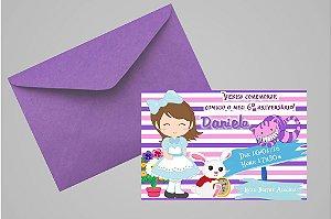 Convite 10x15 Alice no país das maravilhas 012