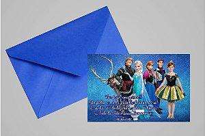 Convite 10x15 Frozen 004 com foto